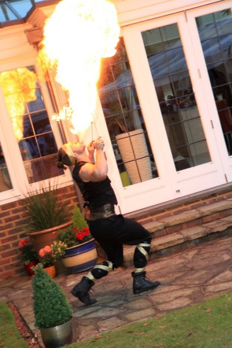 Fire Girls breathing fire