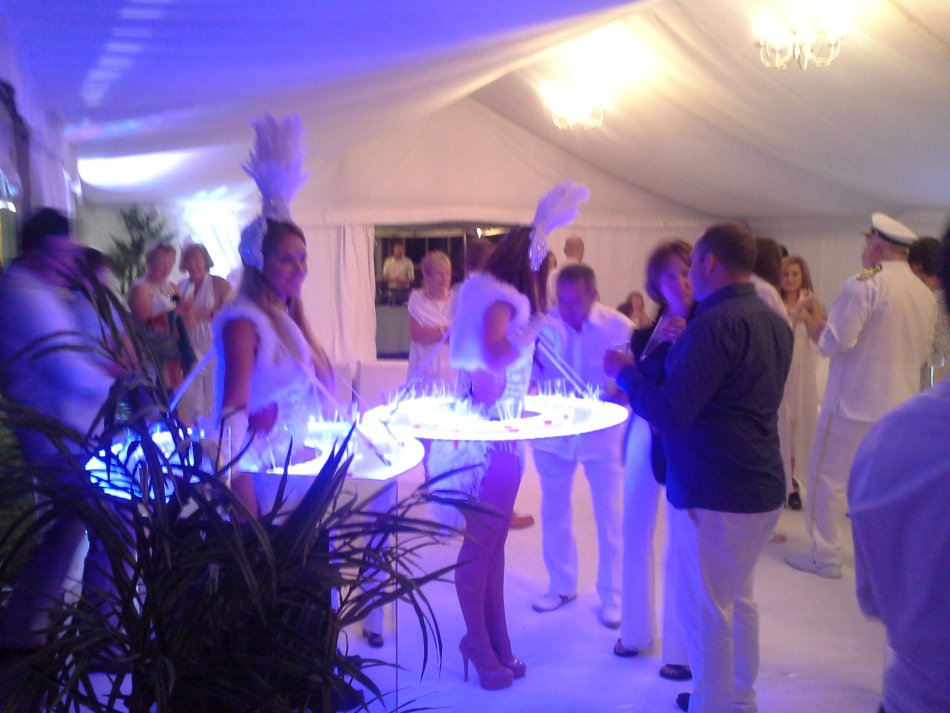 Vodka Tableswhite Party