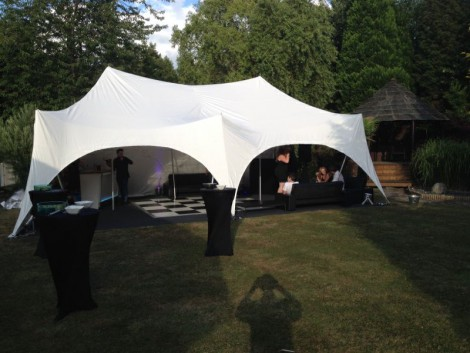 Beautiful Marquee with checkered floor 2