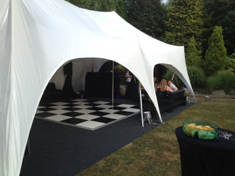 Beautiful Marquee with checkered floor