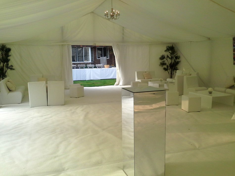 Fantastic White Marquee Inside