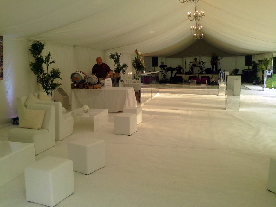 Inside of Amazing White Marquee