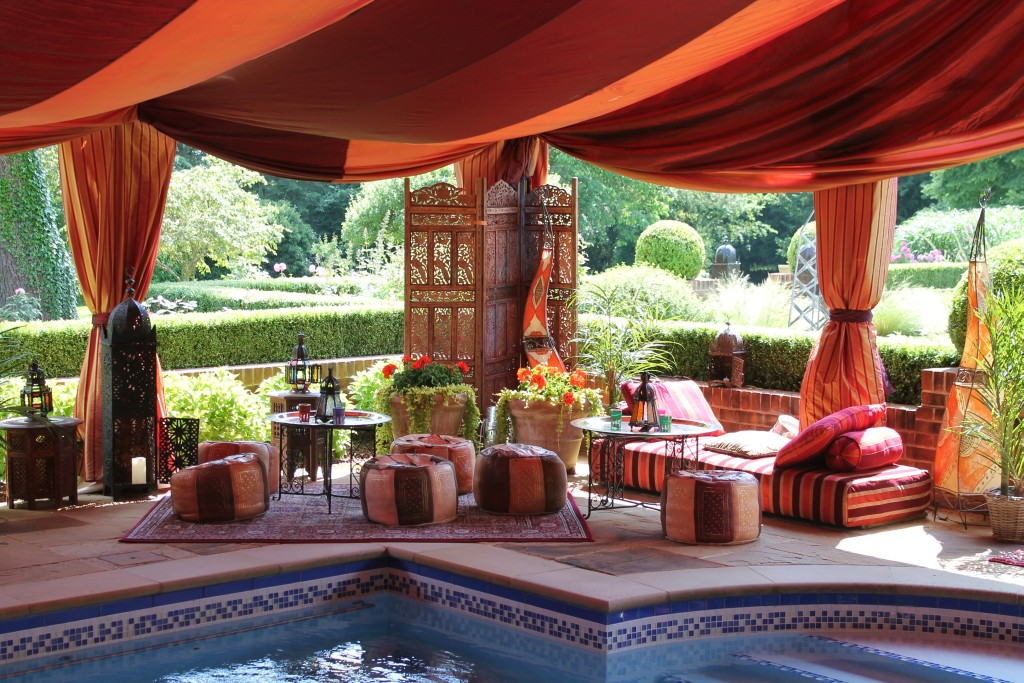 Moroccan style Bedouin tent with pool indoor pool