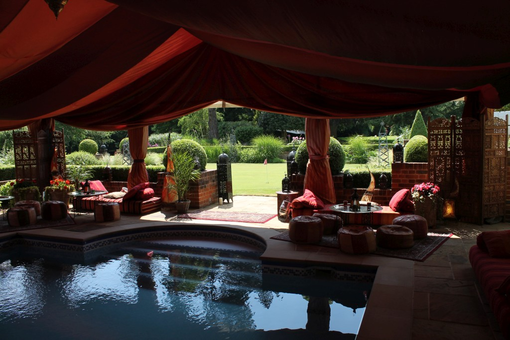 Moroccan style Bedouin tent with pool inside