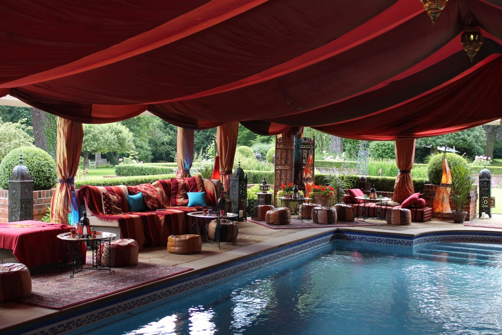 Moroccan style Bedouin tent with pool