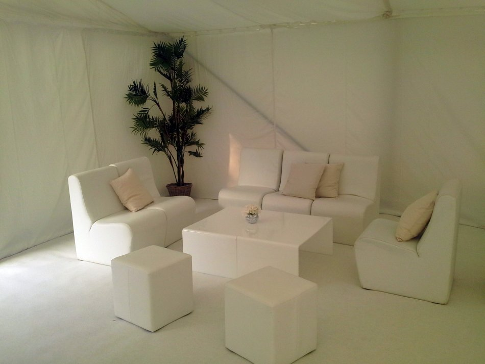 White Furniture Inside Marquee