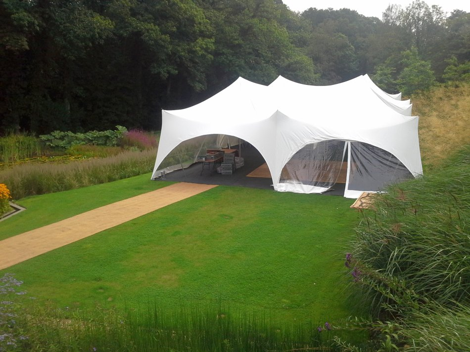 White Marquee in Garden