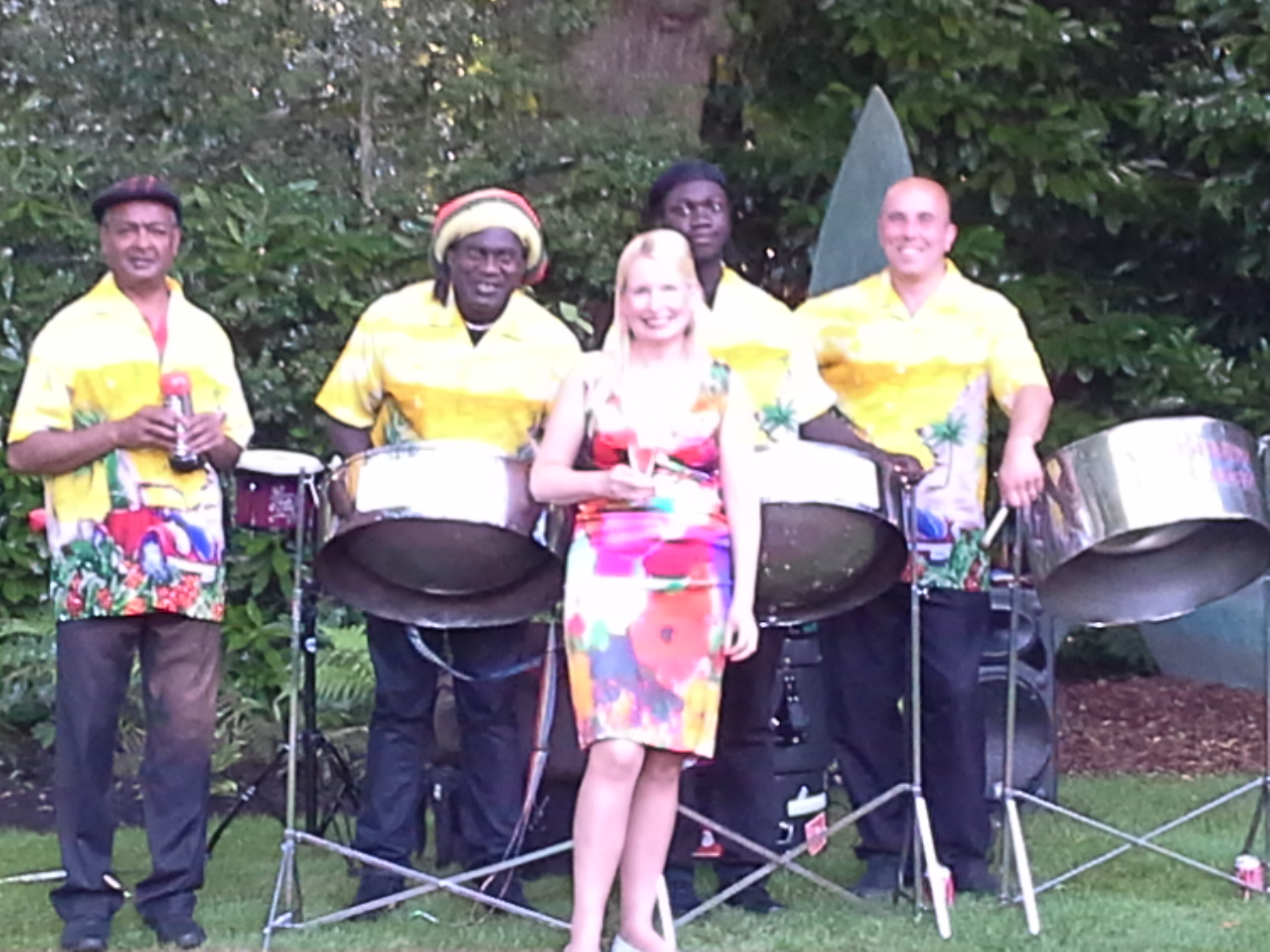 The lovely Sia with our steel band