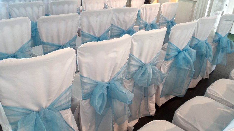 Beautiful Wedding Chair Covers at the Winchester House