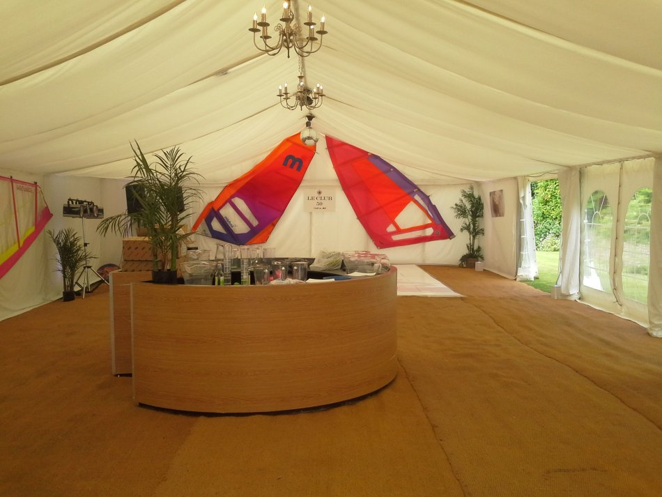 French riviera party set up