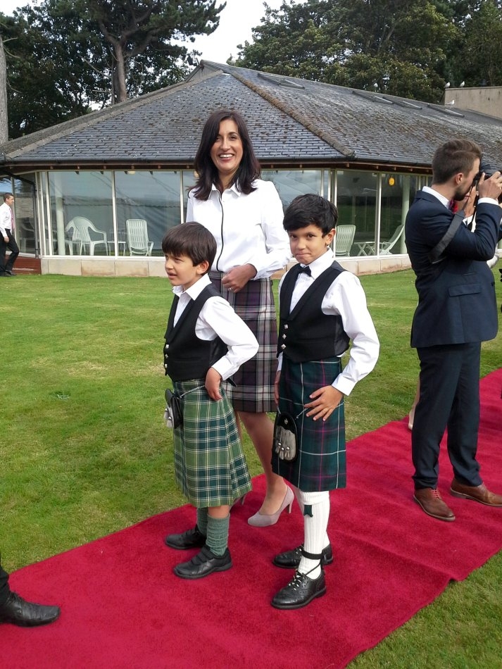 Even the mums wore Kilts!