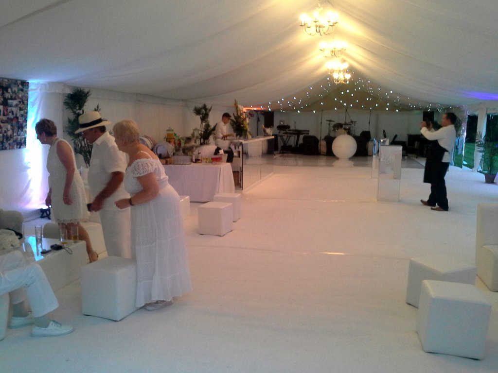 Party wedding and marquee on site