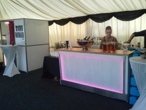 Rooftop marquee party brighton - Bar and photobooth ready just waiting for guests